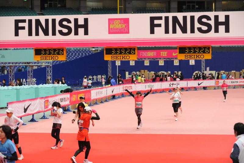 サブ3.75でゴールした2012年3月11日の第1回名古屋ウィメンズマラソン
