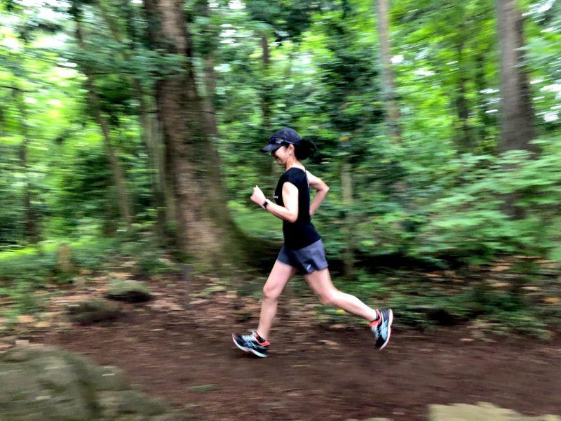 秋川渓谷でクロスカントリーのトレーニング