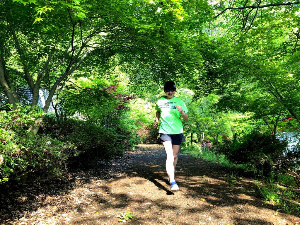 福岡県吉富町天仲寺山で暑さを避けてトレイルラン