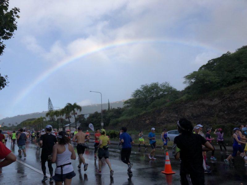 雨が降って暑さがしのげた2017年12月のハワイホノルルマラソン
