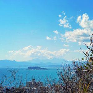 披露山公園から見る富士山