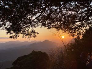 中津の八面山の天空の展望所から見た2020年の初日の出