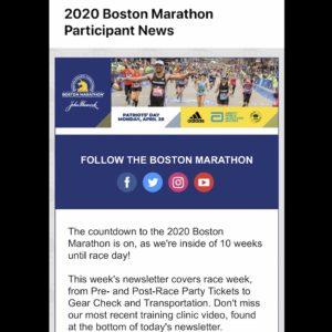 ボストンマラソン のニュースレター