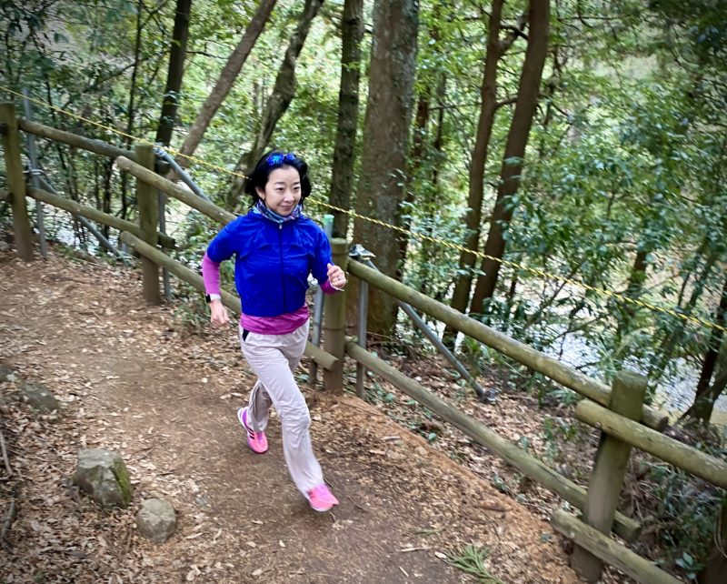 秋川渓谷でトレイルラン