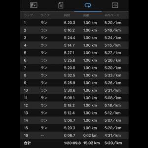 15kmビルドアップ