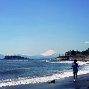 稲村ヶ崎まで富士見ラン