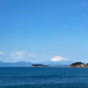 逗子マリーナからの富士山