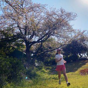 源氏山にお花見ラン