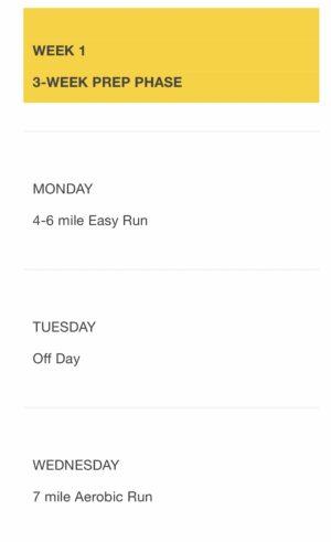 ボストンマラソン公式の20週間トレーニングプラン1週目前半