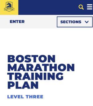 ボストンマラソン公式の20週間トレーニングプラン