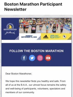 ボストンアスレチックアソシエイトからメール