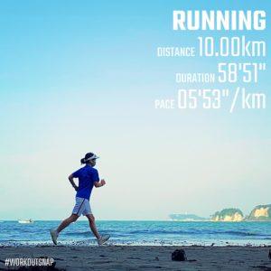 "【10.0kmのイージーラン(5'53"") 】"