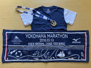 横浜マラソン参加賞Tシャツ裏