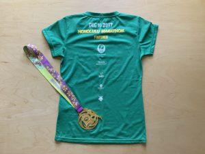 ホノルルマラソン参加賞Tシャツ裏
