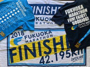 福岡マラソン参加賞Tシャツ裏