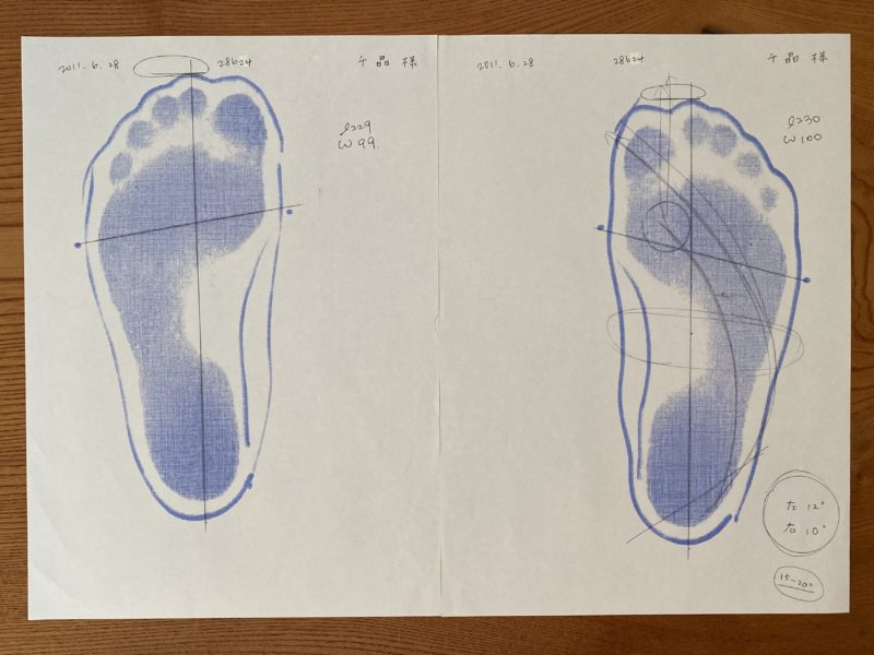 アスリートクラブで足型を計測