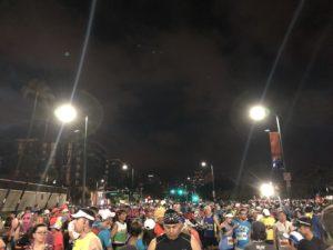 ホノルルマラソンスタート前