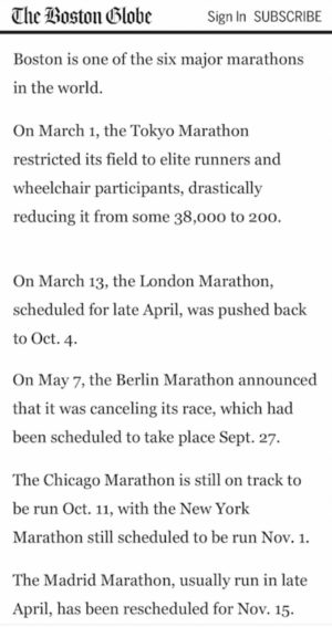 ボストンマラソンについての報道