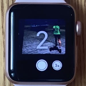 Apple Watchで撮影。3秒のセルフタイマーボタンでカウントダウン