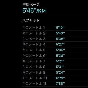 "【2 x(5'28""で3.5km)】"