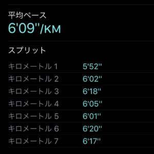 "【6.77kmのイージーラン(6'09"")】"
