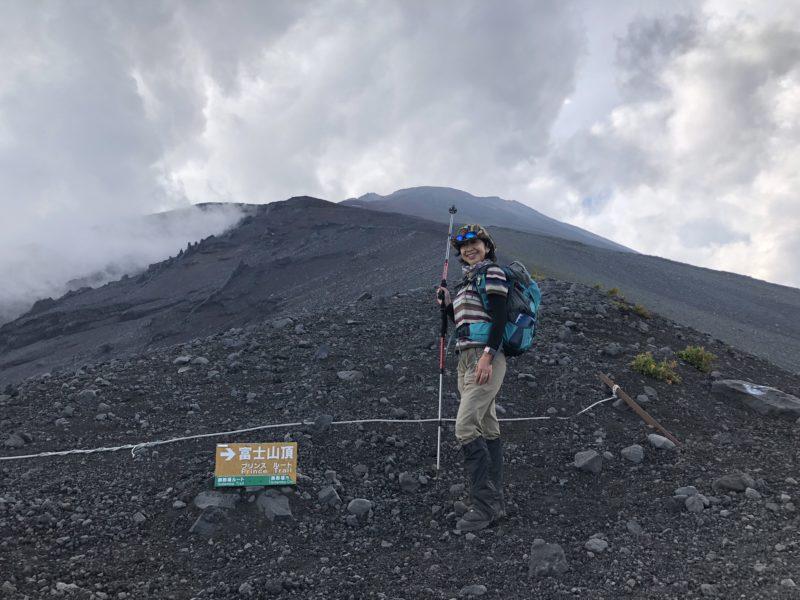 富士山頂へ