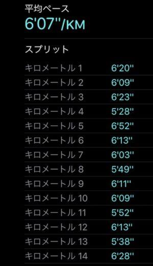 """【13.09kmのエアロビックラン(6'07"""")】"""