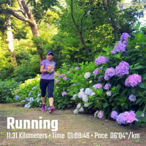 "【11.31kmのイージーラン(6'05"")】葛原岳神社"