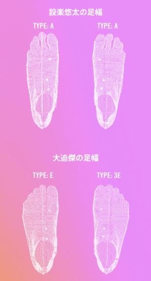 ナイキ公式サイトより設楽さんの足幅と大迫さんの足幅
