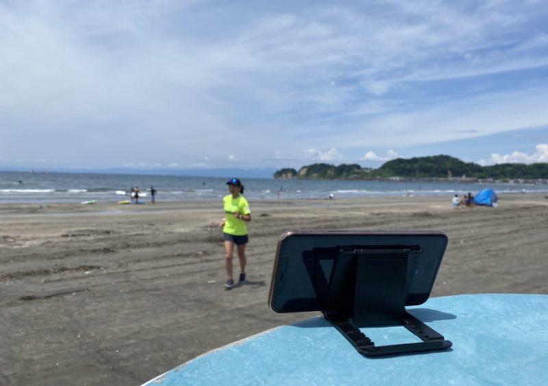 材木座海岸にてApple Watchで撮影