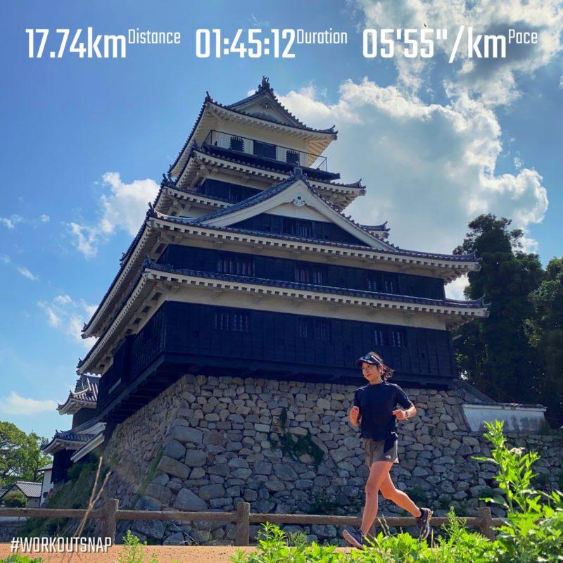 """【3x(5'26""""で3.3km)】中津城"""