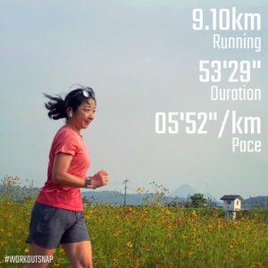 "【9.1kmのイージーラン(5'53"")】山国川"