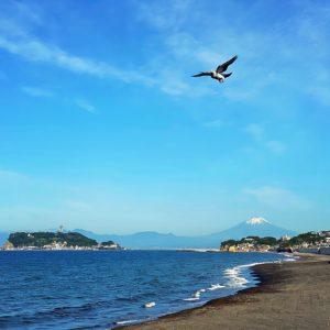 七里ガ浜から富士山