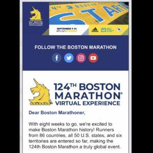 ボストンアスレチック協会からメール