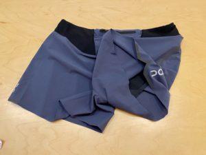 OnのRunning Shorts (2018モデル)の薄い生地