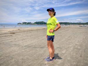 OnのRunning Shorts (2018モデル)で材木座海岸