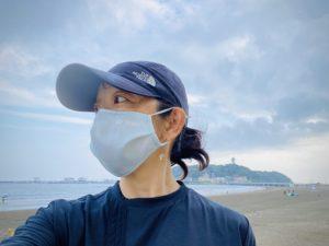 江の島でスポーツフェイスマスク