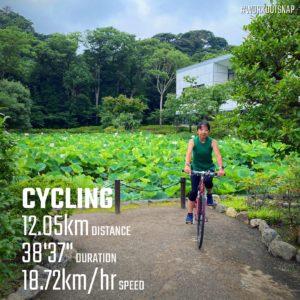 【クロストレーニング:サイクリング38分】鶴岡八幡宮にて