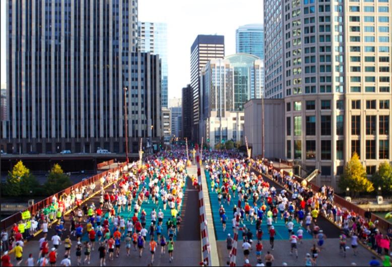 シカゴマラソン の様子