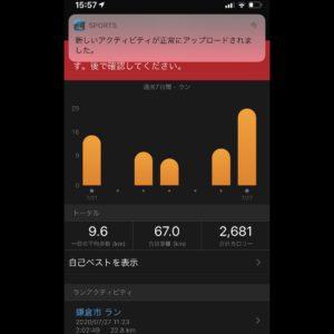 """【5'22""""→5'26""""→4'59""""で16.2km(ビルドアップ) 】データがアップロードできた!"""