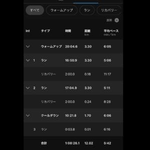 """【2×(5'09""""で3.3km)】すべて"""