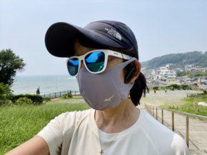 濡らしたマスクを装着