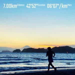 "【7kmのイージーラン(6'08"")】材木座海岸"