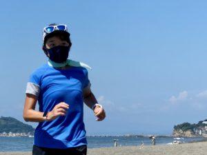 バルマゼロを着用して七里ヶ浜で