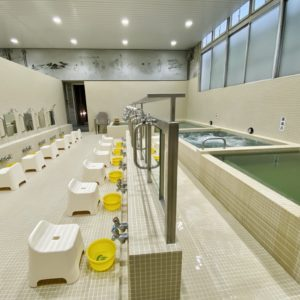 墨田区の銭湯「黄金湯」洗い場