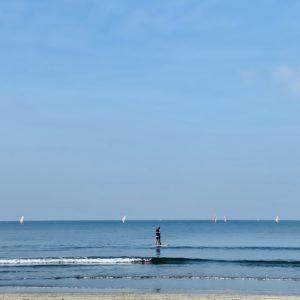 材木座海岸でサップ