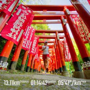 """【5'23""""で8.11km】佐助稲荷神社"""