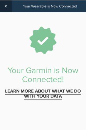ボストンマラソンバーチャルエクスペリエンスのモバイルアプリのセッティングGarmin