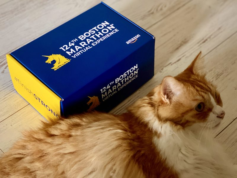 ボストンマラソンバーチャルエクスペリエンス限定版プレレースパッケージ到着