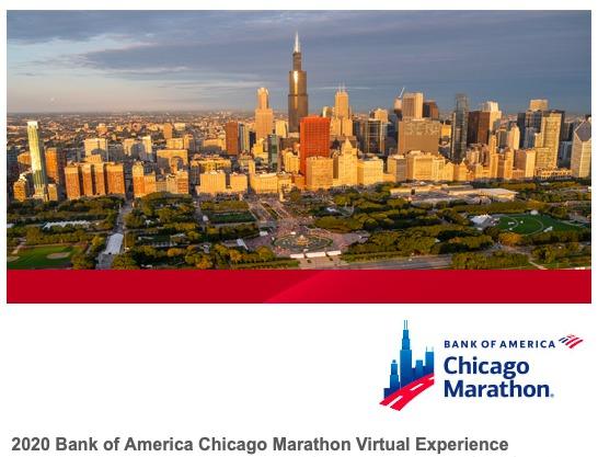 シカゴマラソンバーチャルエクスペリエンス開催通知メール